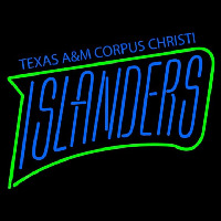 Texas a and M Cc Islanders Wordmark 2004 Pres Logo NCAA Neon Sign Neon Sign