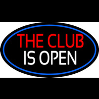 The Club Is Open Neon Sign