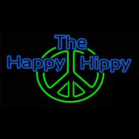 The Happy Hippy Neon Sign