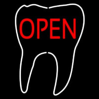 Tooth Logo Open Neon Sign
