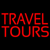 Travel Tours Neon Sign