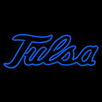 Tulsa Golden Hurricane Wordmark 1982 Pres Logo NCAA Neon Sign Neon Sign