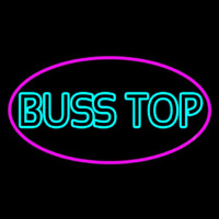 Turquoise Bus Stop Neon Sign
