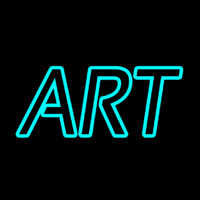 Turquoise Double Stroke Art Neon Sign
