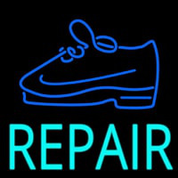 Turquoise Repair Shoe Neon Sign