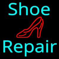 Turquoise Shoe Repair Sandal Neon Sign