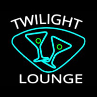 Twilight Lounge With Martini Glasses Real Neon Glass Tube Neon Sign