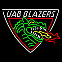 Uab Blazers Primary 1996 Pres Logo NCAA Neon Sign Neon Sign