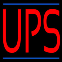Ups Shipping Neon Sign