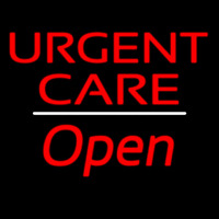 Urgent Care Open White Line Neon Sign