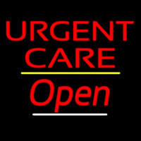 Urgent Care Open Yellow Line Neon Sign