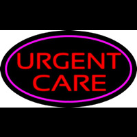 Urgent Care Oval Pink Neon Sign