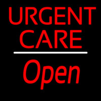 Urgent Care Script1 Open White Line Neon Sign