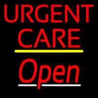 Urgent Care Script2 Open Yellow Line Neon Sign
