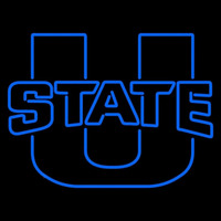 Utah State Aggies Primary 2012 Pres Logo Ncaa Neon Sign Neon Sign