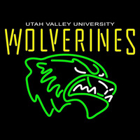 Utah Valley Wolverines Primary 2008 Pres Logo Ncaa Neon Sign Neon Sign