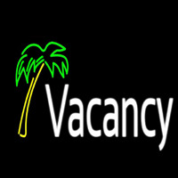 Vacancy With Tree Neon Sign
