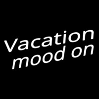 Vacation Mood On Neon Sign