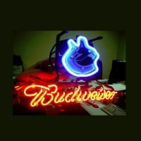 Vancouver Canucks Budweiser Football Neon Light Sign Neon Sign