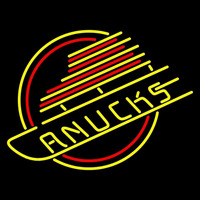 Vancouver Canucks Primary 1978 79 1991 92 Logo NHL Neon Sign Neon Sign