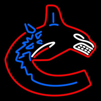 Vancouver Canucks Primary 1997 98 2006 07 Logo NHL Neon Sign Neon Sign