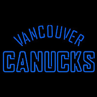 Vancouver Canucks Wordmark 2007 08 Pres Logo NHL Neon Sign Neon Sign
