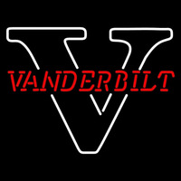 Vanderbilt Commodores Primary 1991 1998 Logo Ncaa Neon Sign Neon Sign