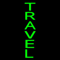 Vertical Green Travel Neon Sign