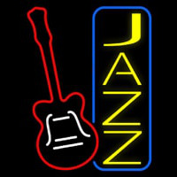 Vertical Jazz With Guitar 2 Neon Sign