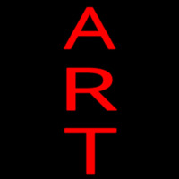 Vertical Red Art Neon Sign