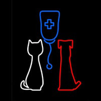 Veterinary Pet Clinic Neon Sign