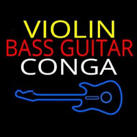 Violin Bass Guitar Conga 1 Neon Sign