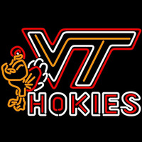 Virginia Tech Vt Hokies Logo Neon Sign Neon Sign