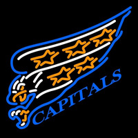 Washington Capitals Primary 1995 96 2001 02 Logo NHL Neon Sign Neon Sign