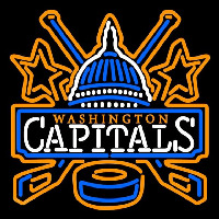 Washington Capitals Primary 2002 03 2006 07 Logo NHL Neon Sign Neon Sign