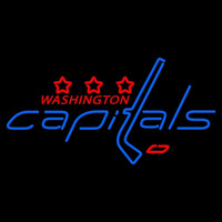 Washington Capitals Primary 2007 08 Pres Logo NHL Neon Sign Neon Sign