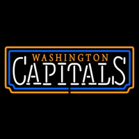 Washington Capitals Wordmark 1995 96 2006 07 Logo NHL Neon Sign Neon Sign