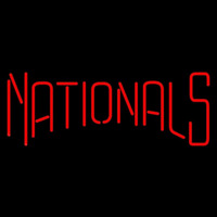 Washington Nationals Wordmark 2005 2010 Logo MLB Neon Sign Neon Sign
