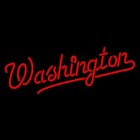 Washington Nationals Wordmark 2009 2010 Logo MLB Neon Sign Neon Sign