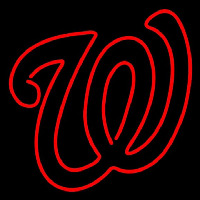 Washington Nationals Wordmark 2011 Pres Logo MLB Neon Sign Neon Sign