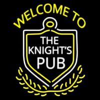 Welcome To The Knights Pub Neon Sign