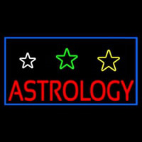 White Astrology Neon Sign