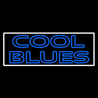 White Border Cool Blues Neon Sign