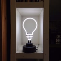 White Bulb Desktop Neon Sign
