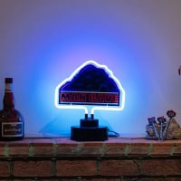 White Mancave Desktop Neon Sign