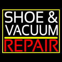 White Shoe And Vacuum Red Repair Neon Sign