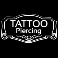 White Tattoo Piercing Neon Sign