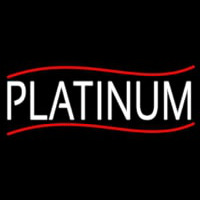 White We Buy Platinum Neon Sign
