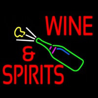 Wine And Spirits Neon Sign