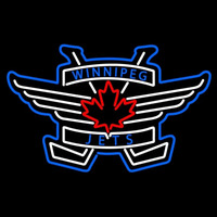 Winnipeg Jets Alternate 2011 12 Pres Logo NHL Neon Sign Neon Sign